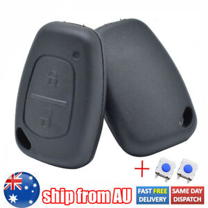 Remote Key Fob Cover with 2 Button Pad Switch For Renault Traffic Master Kangoo