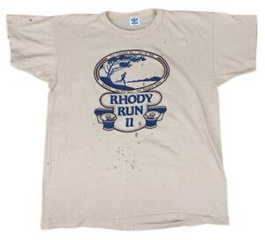 Vintage 80's 1980 Adidas Colorful Trefoil Rhody Run Running T-Shirt XL