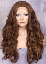 HEAT SAFE Lace Front WIG So Realistic Brown mix Loose wavy Hairpiece WAL 4-27-30