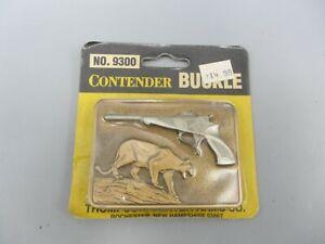 Vintage NOS Contendor Buckle Co Thompson Center Arms Co Gun Cougar Belt Buckle