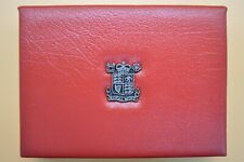 THE ROYAL MINT 1988 7 COIN PROOF SET IN A DELUXE RED LEATHER CASE
