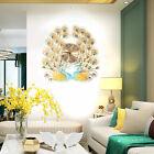 Modern Huge Wall Clock Peacock Shaped Hanging Clock Hotel, Office, Bedroom Decro