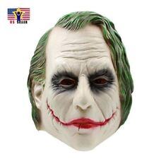 Dark Knight Joker Costume Latex Rubber Head Horror Scary Mask Halloween Party