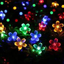 5m Solarleuchte LED Weihnachten Deko RGB Lichterkette 20 Leds Garten Beleuchtung