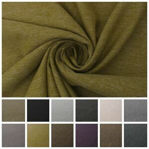 Soft Plain Distressed Worn Look Weave  Sofa Seating Upholstery Fabric