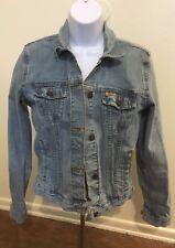 levi strauss signature denim Blue Jean jacket Light Button Down Girls Size 2XL