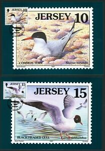 JERSEY 1997 shorebirds and waders maxi cards first day cancellations part set