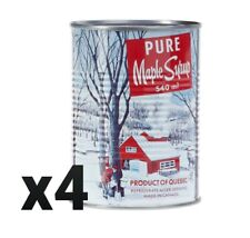 4 x Canadian Maple Syrup from Quebec 540ml each 18 oz
