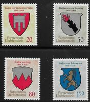 Liechtenstein Scott #386-89, Singles 1964 Complete Set FVF MH