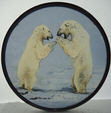 Glassmasters Laughing Polar Bears Art Glass Suncatcher