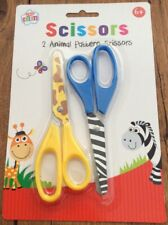 """2 x Childs Children Craft Safety Scissors 5.5/"""" Educational School"""
