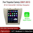 """9.7"""" Tesla Style Android 11 Apple Carplay Car Stereo GPS For Toyota Camry 07-13"""