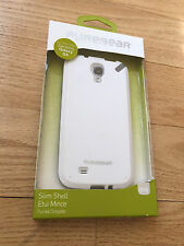 PureGear Slim White Gray Hybrid Case Cover & LCD Protector For Samsung Galaxy S4