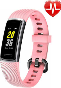 Fitness Trackers HR Activity Tracker  Heart Rate Monitor IP68 Waterproof