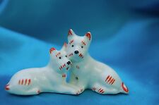 Walter Bosse design Deco 2 Porcelain dog s Germany Norwich Scottish terrier