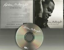 BRIAN McKNIGHT Let me Love You RARE RADIO TRK & INSTRUMENTAL PROMO DJ CD single