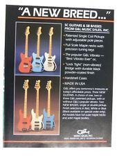retro magazine advert 1983 G&L sc / sb