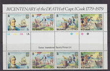 Tuvalu, Cook Gutter block of 8, Scott 114-7, MNH, Lot 5779