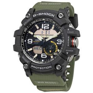 Casio GG1000-1A3 56.2mm G-Shock Analog-Digital Mud Master Army Watch, Green