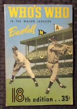 1950 WHO'S WHO in the Major Leagues BASEBALL 18th Ed. VG+ 4.5 Yankees Team