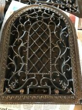 Br 27 Antique Decorative Swirly Arch Top Heating Great 14 X 10