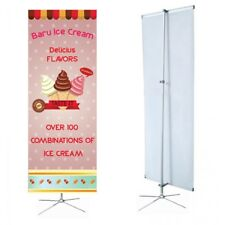 """Banner Stand adjustable Cross Base 23.5"""" wide 63"""" tall + travel bag"""