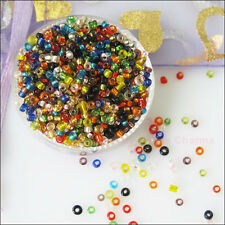 1200Pcs Mixed Brilliant Tiny Seed Round Glass Spacer Beads Charms 2mm