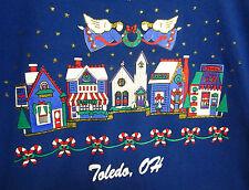 Toledo Ugky Christmas sweatshirt Xl Gopher Sport 1980s Ohio angels village
