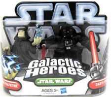 STAR WARS Galactic Heroes Emperor Palpatine & Darth Vader action figures