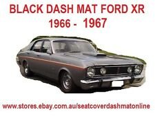 DASH MAT, DASHMAT,BLACK DASHBOARD COVER FIT FORD FALCON XR 1967, BLACK