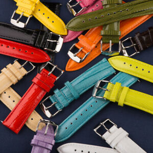 LIZARD Grain LEATHER INTERCHANGEABLE Watch Band Strap