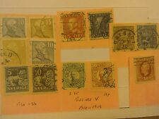 A Selection of Stamps From Sweden Ear!y to mid1900's