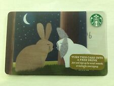 "NEW 2015 STARBUCKS ""BUNNIES"" GIFT CARD LIMITED EDITION NO VALUE MINT"