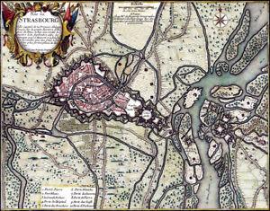 Reproduction plan ancien - Strasbourg vers 1680