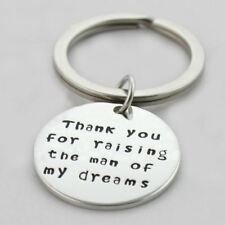 925 Silver Plt 'thank You for Raising The Man of My Dreams' Keyring In-law a