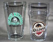 Kallian's Irish Red Lager Glasses (Set of 2) 1 Green & White Logo / 1 Color Logo