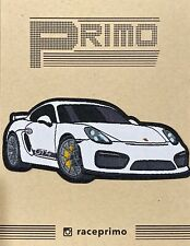 Porsche Cayman GT4 981 Sew On or Iron Patch Racecar with BBS LM