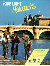 PUBLICITE ADVERTISING 125  1993  SHIMANO  vélos  STX SPECIAL