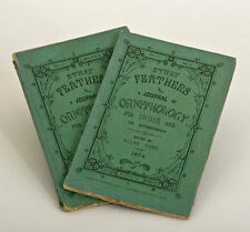1874, Stray FEATHERS, 2 rare issues in original wraps, INDIA, birds, ORNITHOLOGY
