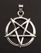 Pentagramme Pendentif pentacle magie bijou ésotérique en Argent 925 7.1g 25879