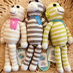 Pebble Monkey Rattle Toy Fair Trade Hand Made