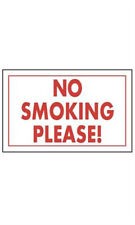 """Count of 10 Retails """"No Smoking Please!"""" Policy Sign 11""""W x 7""""H"""