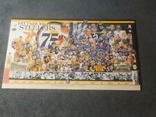 VINTAGE FOOTBALL 2007 PITTSBURGH STEEELRS BOARD DISPLAY ALL TIME TEAM SIGN HUGE