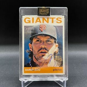 BARRY ZITO 2021 TOPPS ARCHIVES SIGNATURES SERIES AUTO /99 SAN FRANCISCO GIANTS