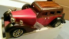 New Wooden 1930s Crown Vic type Auto in original package w/ tag