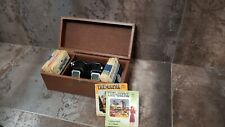 Vintage 1950's Sawyer's View-Master Set in  Wooden Box NICE 19 Reels