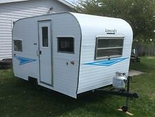 1965 Lincraft  Canned Ham Vintage Camping Trailer 12'  #1200 lbs Camper