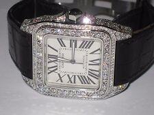 Mens Cartier Santos 100 XL Diamonds Everywhere