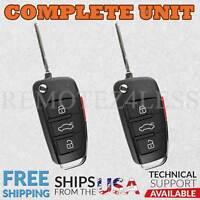 2 Keyless Entry Remote For 2006 2007 2008 2009 2010 Audi A6 Car Key Fob Control