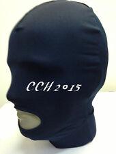 Halloween Lycra spandex zentai wrestling Costumes navy full hood/mask  S--XXL